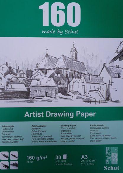 Schut tekenpapier 160 g/m² A3 (30st)