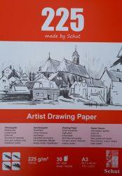 Schut tekenpapier 225 g/m² A3 (30st) kleuren schetsen creatiek de bergeend