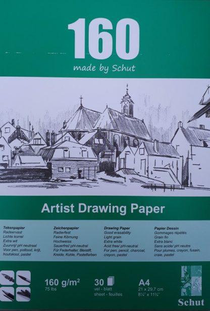 Schut tekenpapier 160 g/m² A4 (30st)