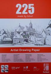 Schut tekenpapier 225 g/m² A4 (30st) kleuren schetsen creatiek de bergeend