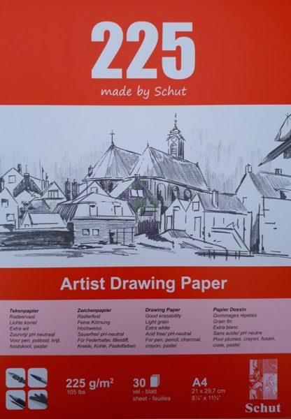 Schut tekenpapier 225 g/m² A4 (30st)